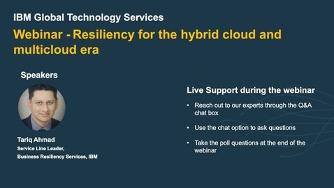 Thumbnail for entry Resiliency for the hybrid cloud and multicloud era