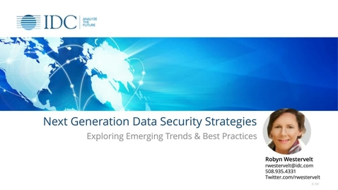 Thumbnail for entry Next Generation Data Security Strategies