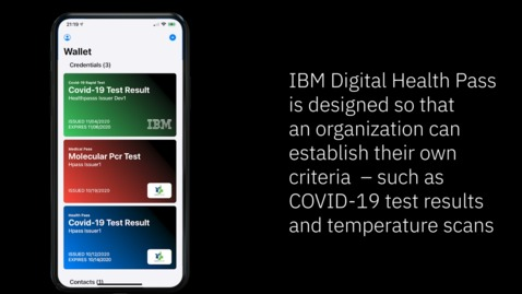 Thumbnail for entry IBM Digital Health Pass Overview Video