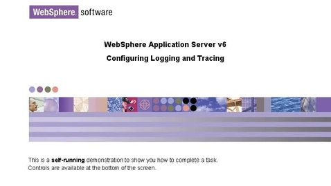 Thumbnail for entry Configuring logging and tracing