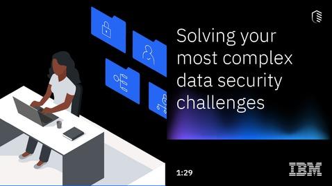 Thumbnail for entry Lösen Sie Ihre komplexesten Herausforderungen im Bereich der Datensicherheit