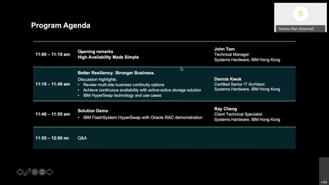 Thumbnail for entry Webinar: IBM Tech Meetup - BETTER RESILIENCY. STRONGER BUSINESS.