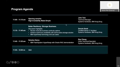 Thumbnail for entry Webinar: IBM Tech Meetup - BETTER RESILIENCY. STRONGER BUSINESS.