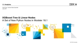 Thumbnail for entry SPSS Modeler 18.1 - Xgboost tree and linear nodes