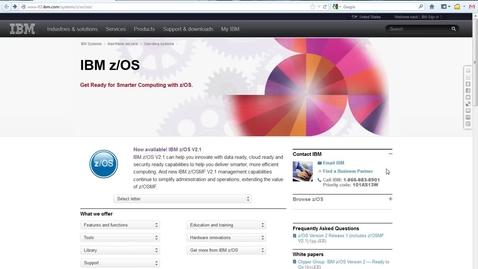 Thumbnail for entry IBM zOSMF V2.1 Migration Workflow Demo