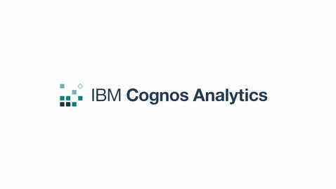 Thumbnail for entry Customize the Cognos Analytics Portal