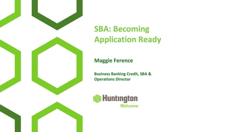 Thumbnail for entry Access to Capital: Becoming SBA Loan Application Ready
