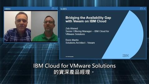 Thumbnail for entry 使用 Veeam on IBM Cloud 提高可用性