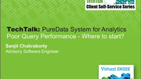 Thumbnail for entry Tech Talk: Poor Query Performance - Where to start?