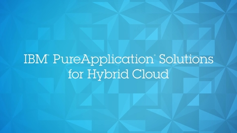 Thumbnail for entry IBM PureApplication Solution for Hybrid Cloud: IBM PureApp SoftLayer Beta Partner Compilation