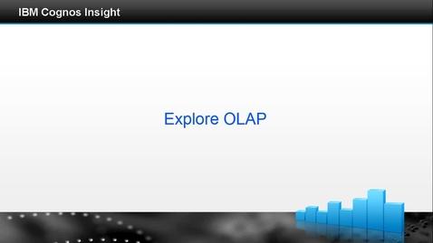 Thumbnail for entry Explore olap
