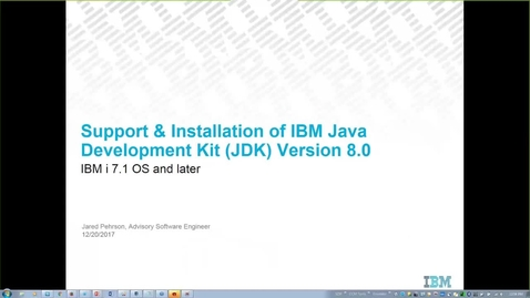 Thumbnail for entry Support and Installation of IBM JDK v8.0 on the IBM i OS
