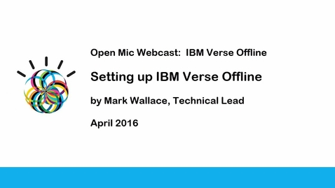 Thumbnail for entry Setting up IBM Verse Offline