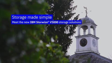Thumbnail for entry Vídeo do produto IBM Storwize V5000