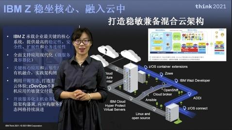 Thumbnail for entry IBM Z 云化演示:稳坐核心 融入云中