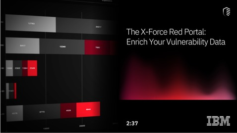 Thumbnail for entry The X-Force Red Portal: Enrich Your Vulnerability Data