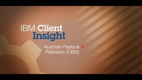 Thumbnail for entry Austrian Federal Railways (ÖBB) achieves 30-day ROI using IBM Tivoli Netcool OMNIbus