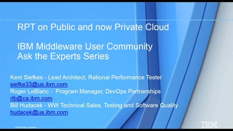 Thumbnail for entry Which One is Most Right for You – Performance Testing on Public or Private Cloud?