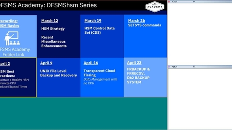 Thumbnail for entry DFSMShsm Education Series-hsm Best Practices
