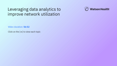 Thumbnail for entry Leveraging data analytics to improve network utilization