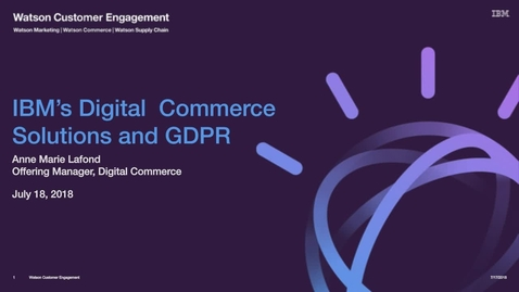 Thumbnail for entry GDPR Has Arrived. What Does This Mean for Online Sellers