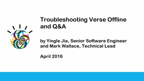 Thumbnail for entry IBM Verse Offline Troubleshooting