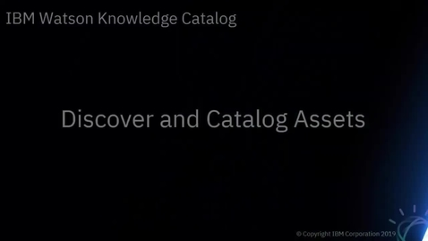 Thumbnail for entry Discover and Catalog Assets
