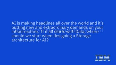 Thumbnail for entry Evaluate storage for AI based on the data horizon, not the technology horizon
