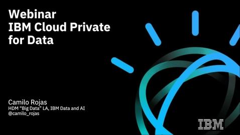 Thumbnail for entry ICP for Data: Innovación y velocidad con una plataforma de analítica integrada.