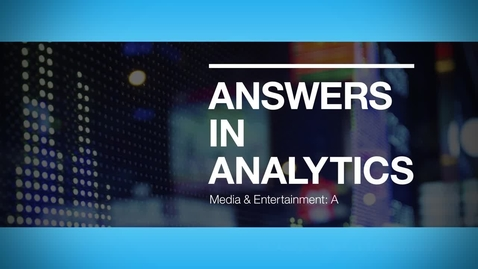 Thumbnail for entry IMM accurately targeting the customer while maximizing advertising spend with IBM Analytics