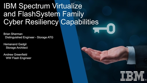 Thumbnail for entry IBM's SafeGuarded Copy  (SGC) on FlashSystem Arrays, using Spectrum Virtualize