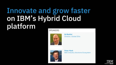 Thumbnail for entry New ICP Webinar and Value proposition for ISVs and Solution Partners