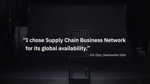 Thumbnail for entry Greenworks Tools chooses IBM Sterling Supply Chain Business Network for its global availability