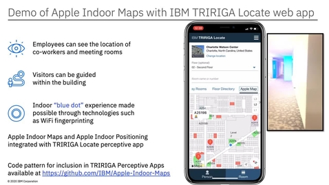 Thumbnail for entry 利用 Apple Indoor Maps 和 IBM TRIRIGA 在室内引入蓝点