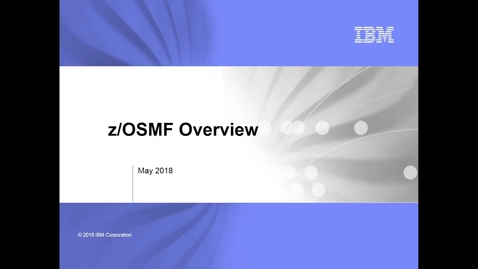 Thumbnail for entry z/OSMF Overview