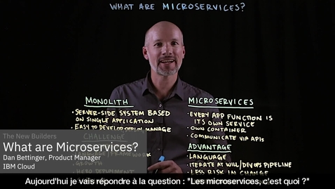 Thumbnail for entry Que sont les microservices ?