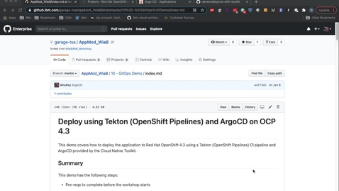 Thumbnail for entry GitOps with the Cloud Native Toolkit