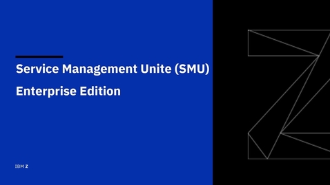Thumbnail for entry Getting started with IBM Service Management Unite