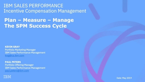 Thumbnail for entry Why Sales Performance Management is your next best investment
