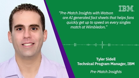 Thumbnail for entry Pre-Match Insights with Tyler Sidell