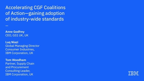 Thumbnail for entry Accelerating CGF Coalitions of Action: Gaining Adoption of Industry-Wide Standards