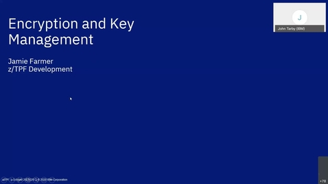 Thumbnail for entry z/TPF Internship: Encryption and Key Management