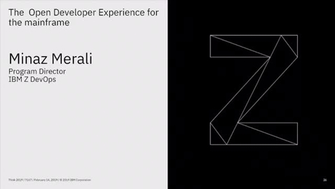 Thumbnail for entry IBM Z End To End DevOps Demo