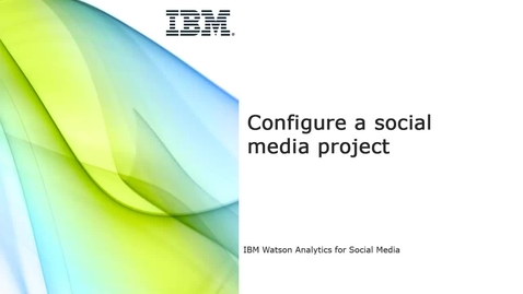 Thumbnail for entry Configure a social media project