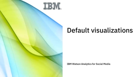 Thumbnail for entry Default visualizations