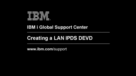 Thumbnail for entry Creating a LAN IPDS Printer Device Description