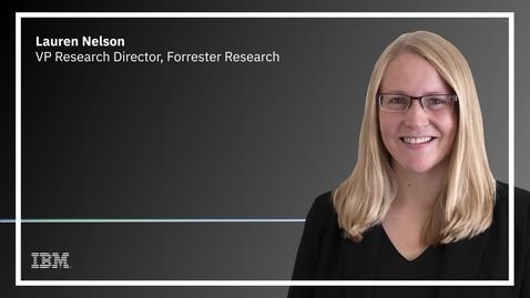 Thumbnail for entry Forrester's Lauren Nelson on app modernization