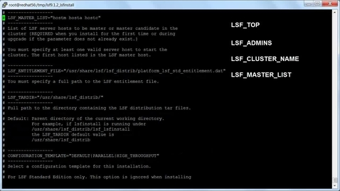 Thumbnail for entry Standard LSF installation on Linux