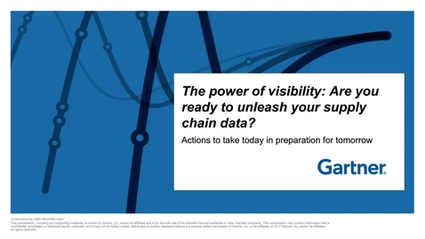 Thumbnail for entry The Power of Visibility: Are you ready to unleash your supply chain data?