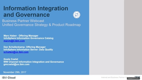Thumbnail for entry Unified Governance product roadmap update webinar replay